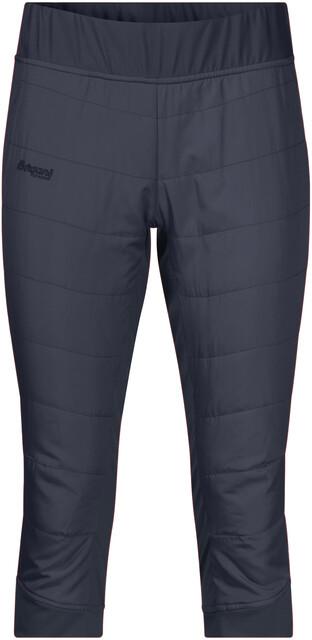 Bergans W's Stranda Hybrid 3/4 Pants Dark Navy/Dark Navy Mel/Dark Fogblå